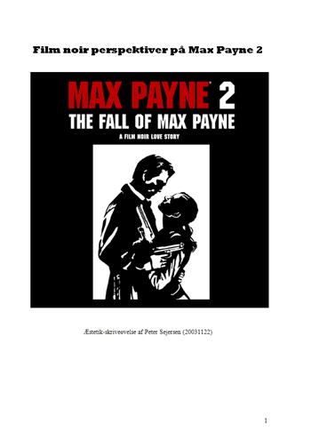 Film noir perspektiver på Max Payne 2