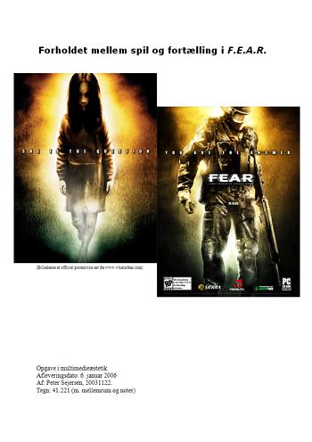 Forholdet mellem spil og fortælling i F.E.A.R.